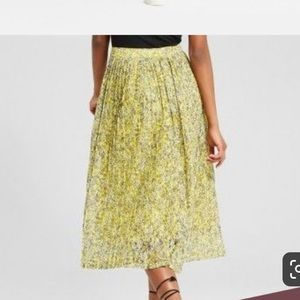 Size6 Who What Wear a-line midi skirt